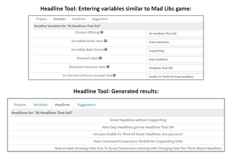 Headline Tool Example