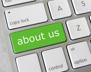 """Keyboard with """"about us"""" button"""
