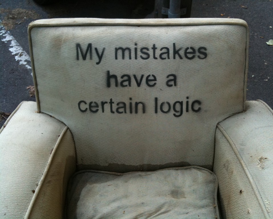 armchair with a quote