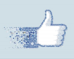 thumbs up to advertising on facebook